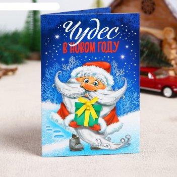 Фреска-открытка дед мороз + 9 цветов песка по 2 г, стека
