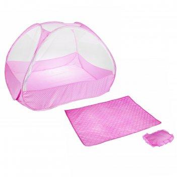 Манеж-палатка для ребёнка, москитная сетка на молнии, подушка и матрасик в