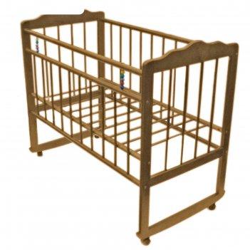 Кровать детская женечка-3, колесо-качалка, (светлая)