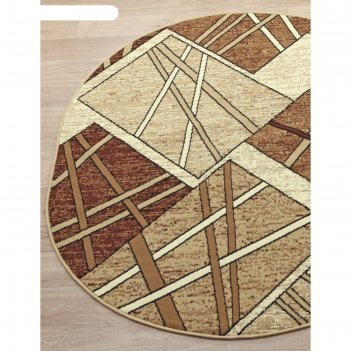 Овальный ковёр laguna d487, 300x400 см, цвет beige