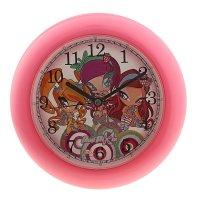 Часы настенные детские 41304 круглые розовые poppixie winx