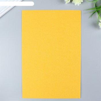 Фетр  жесткий  1 мм 20х30 см   апельсин