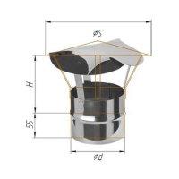 Зонт феррум нержавеющий 430/0,5 мм, d 120, по воде