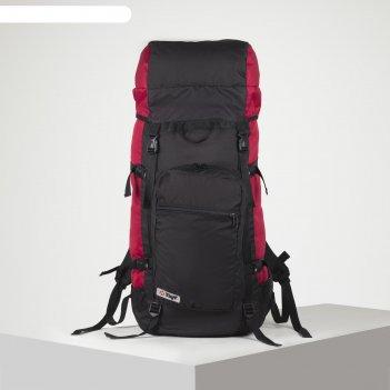 Рюкзак тур оптимал 1, 70л, отд на шнурке, н/карман, 2 бок сетки, черный/ви