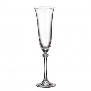 Набор фужеров для шампанского crystalite bohemia asio/alexandra 190 мл(6 ш