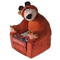 Мягкая игрушка  кресло-кровать маша и медведь