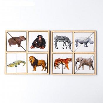Дидактические игры и материалы. картинки-половинки животные африки, п200