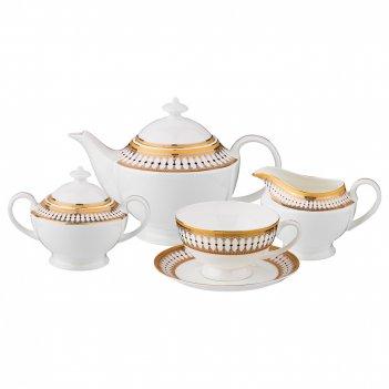 Чайный сервиз на 6 персон 15 пр. меццо 1200/300/250/250 мл. (кор=2набор.)