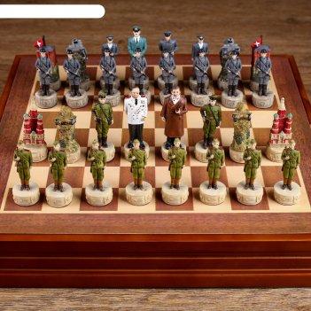 Шахматы сувенирные победные (доска 36х36х6 см, король h=8 см, пешка h=6 см