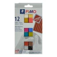 Полимерная глина запекаемая набор fimo leather-effect 12цв*25г 8013 c12-2