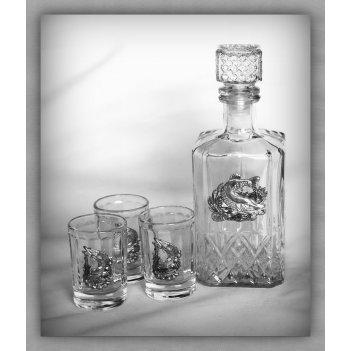 Набор для водки 180  щучья уха  арт. ншт180щух-13