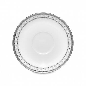 Блюдце для кофейной чашки, диаметр: 12,5 см, материал: фарфор, цвет: белый