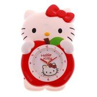 Часы настенные детские яблоко с маятником hello kitty
