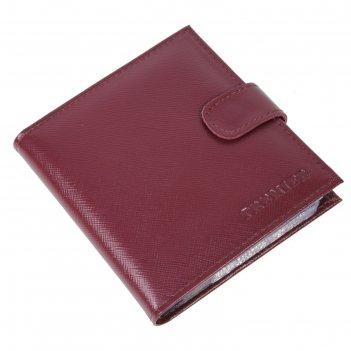 Кредитница (кнопка), н/к, 12,5х12 см, цвет бордовый v-144-582