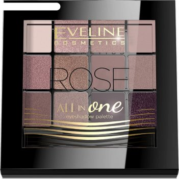 Тени для век eveline all in one № 02 rose, 12 оттенков