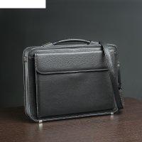 Сумка-портфель мужская на молнии дипломат, 3 отдела, наружный карман, длин