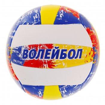 Мяч волейбольный aсе, размер 5, 18 панелей, pvc, 3 подслоя, машинная сшивк