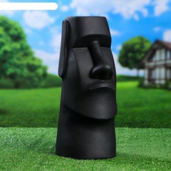 Садовая фигура истукан майя цвет чёрный, матовый