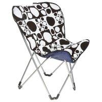 Кресло складное lui 84х76х90 см, цвет: черно-белый