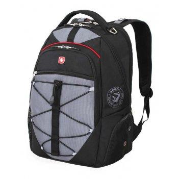 Рюкзак wenger, чёрный/серый, полиэстер 900d/м2 добби, 34x19x46 см, 30 л