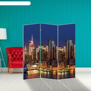 Ширма мегаполис, 150 x 160 см