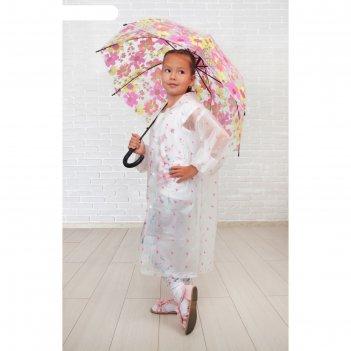 Зонт детский полуавтомат герберы, d=84 см