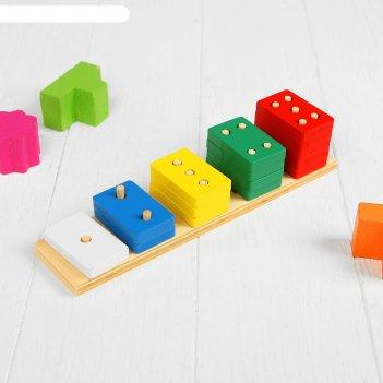 Пирамидка логическая весело считаем, с прямоугольными деталями