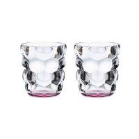 Набор из 2-х стаканов для воды bubbles, объем: 330 мл, цвет: розовый, мате