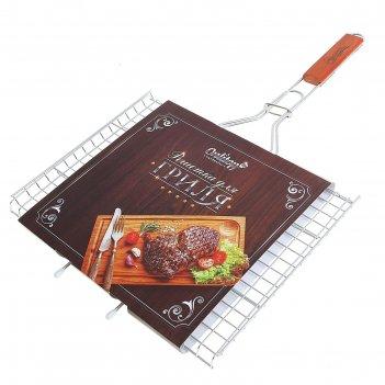 Решетка гриль для мяса premium, средняя