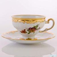 Набор для чая мейсенский букет 1042(чашка210мл.+блюдце) на