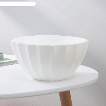 Горшок с автополивом plast-avenue «ракушка», 3,4 л, цвет белый