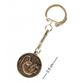 Am- 088 брелок счастливая монета (латунь)