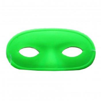 Карнавальная маска выпуклый нос, салатовая, набор 6 шт