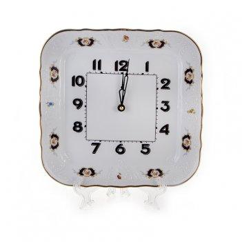 Часы настенные/квадратные 26 см. синий глаз 36612