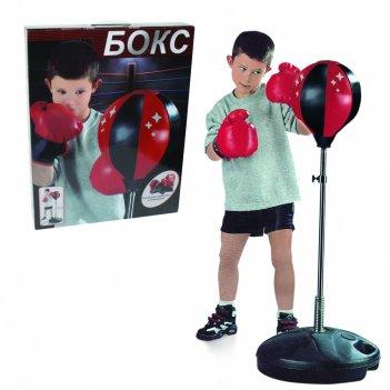 1toy набор для бокса, груша, база 32см, стойка 80-100см