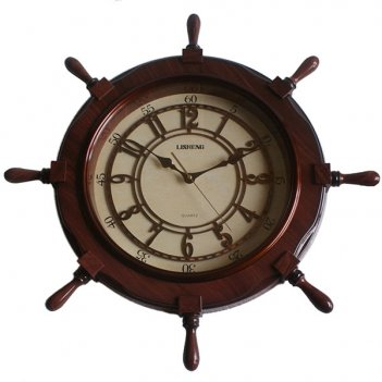Часы настенные штурвал, l64 w8 h64 см