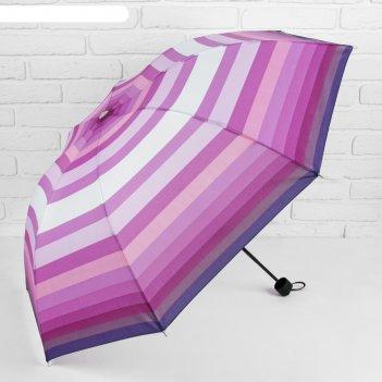 Зонт механический ветроустойчивый, цвет сиренево-фиолетовый