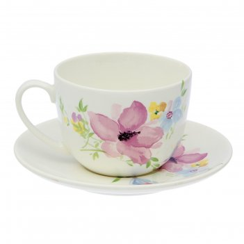 Чайная пара соната. фрезия: чашка 270 мл, блюдце 14,7 см