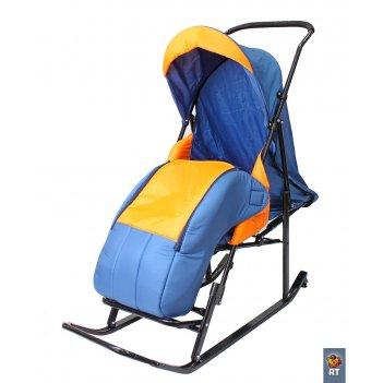 Санки-коляска шустрик-имго-6 на колесиках с горизонтальным положением спин