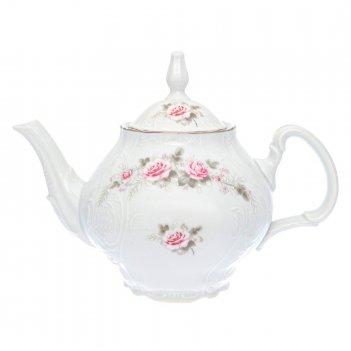 Чайник с ситечком bernadotte серая роза платина 1,2 л