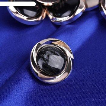 Пуговица декоративная, d=30мм, 12шт, цвет чёрный, 311