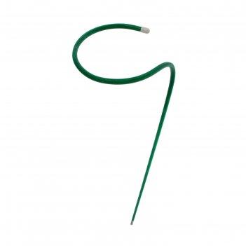 Кустодержатель, d = 20 см, h = 90 см, ножка d = 1 см, металл, зелёный