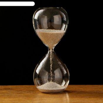 Часы песочные витани 5х12.5 см, серебристый песок