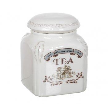 """Банка для сыпучих продуктов """"чай"""" высота=14,5 см."""