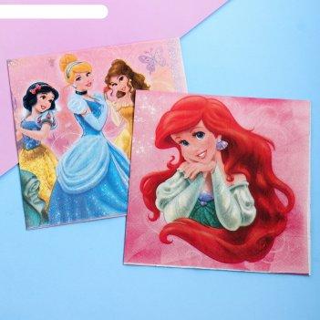 Набор салфеток для декупажа (2 шт) верь в чудеса: принцессы, 33 х 33 см