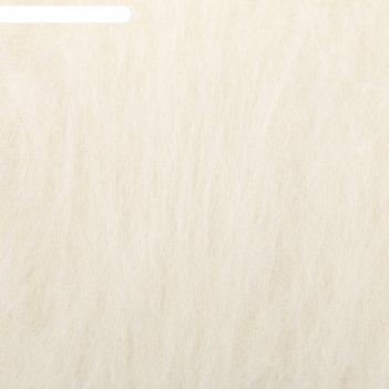 Шерсть для валяния кардочес 100% полутонкая шерсть 100гр (001 суровый)