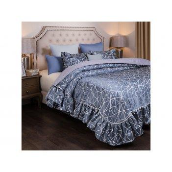 Комплект на кровать из покрывала и 2-х нав модерн 250х230,50х70-2шт, серый