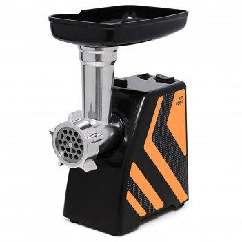 Мясорубка kitfort kt-2101-3, 1500 вт, 1.2 кг/мин, 4 насадки, реверс, оранж