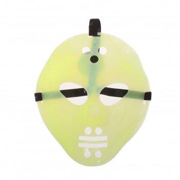 Карнавальная маска пластик пятница светоотражающая