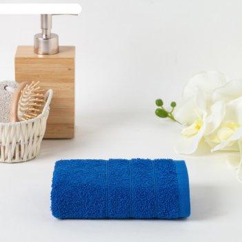 Полотенце махровое 70х140 см, синий, хлопок 100%, 400г/м2